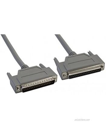 Amphenol CS-DSDMDB37MF-050 37-Pin DB37 Deluxe D-Sub Cable Shielded Male Female 50' Gray