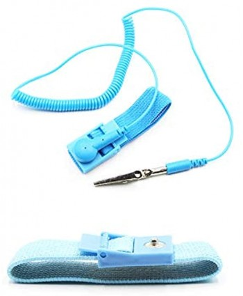 Anti Static Wrist Strap Band with Grounding Wire Strap Anti Shock Wristband Bracelet with Grounding Wire Alligator Clip Extendable Long Cord and Anti Static Bracelet,Antistatic Band AntBlue