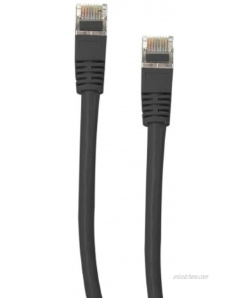 Offex Shielded Cat5e Ethernet Cable Snagless Molded Boot 50-Foot Black OF-10X6-52250