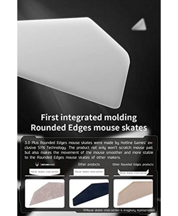 2Sets Hotline Games 3.0 Plus Rounded Curved Edges Mouse Skates for Logitech G Pro X Superlight Wireless GPW Gaming Mouse feet Replacement 0.8mm Glide Feet Pads White Professional Mice Upgrade Kit