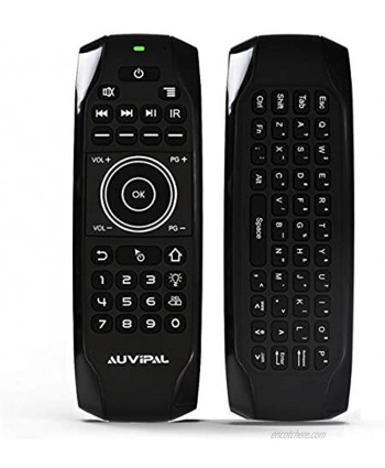 AuviPal G9 Backlit 2.4GHz Wireless Air Mouse Remote with QWERTY Keyboard 5 Programmable Keys and Build-in Rechargeable Battery for Nvidia Shield Android TV Box Kodi PC Raspberry Pi PS4 and More