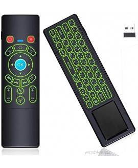 RGB Backlit Air Remote Mouse Mini Wireless Keyboard Touchpad T6 Handheld Mini Keypad Home Media Remote Control for Android TV Box,Windows PC,Laptop,Mac Mini PC,Smart Projector,HTPC,Raspberry Pi 3 4