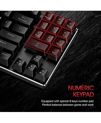 Havit Mechanical Keyboard and Mouse Combo Wired 89 Keys Backlit Gaming Keyboard Red Switch 4800 D P I Mouse with 6 Button Gaming Mouse Pad for PC Gamer Computer Laptop