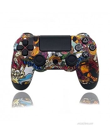 Wireless Controller for PS4 PC,Remote Joystick Gamepad Playstation4,Touch Panel Gamepad with Dual Vibration and Audio Function,Mini LED Indicator
