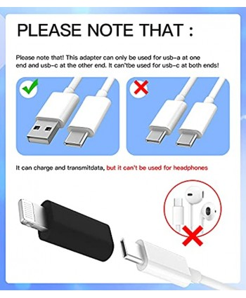 3Pack,USB C Female to Compatible with Lightning Male Adapter type c power charger plug charging cable connector for apple Compatible for iPhone 12 11Pro Max mini X XR XS 8 7Plus for Ipad Air converter