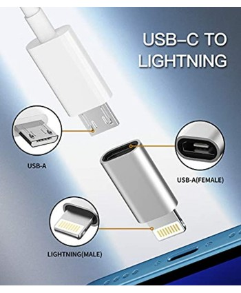 Micro USB to Lightning Adapter,Lightning Male to Microusb Female Adapter for Apple iPhone 5s 6 6s 7 8 Plus se2 x xr xs 11 12 Mini max pro Ipad air Cable Connector Converter Port