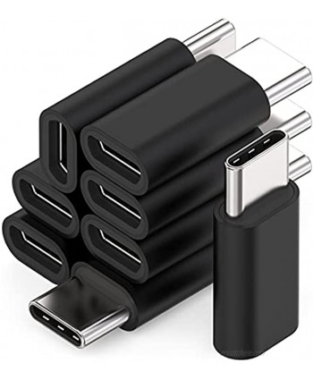 Micro USB to USB Cadapter 8-Pack USB Type C Aluminum Adapter Converter Support Charging & Data Sync Compatible with Samsung Galaxy S21 S20 S10 S9 S8 Plus Note 9 8 LG V30 G6 Black