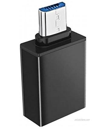 SIREG Micro USB to USB Micro USB 3.0 OTG Adapter On The Go Adapter Micro USB Male to USB Female Compatible with Samsung S7 S6 Edge S4 S3 LG G4 DJI Spark Mavic Remote Controller Android TablBlack