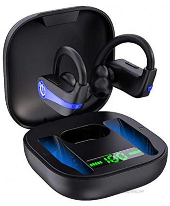 Wireless Earbuds Bluetooth 5.1 Wireless Headphones Sports Bluetooth Earphones in Ear Noise Cancelling Earbuds with Mic Deep Bass Sport Earhooks IP7 Waterproof 40H Playtime Headset for Running Sports