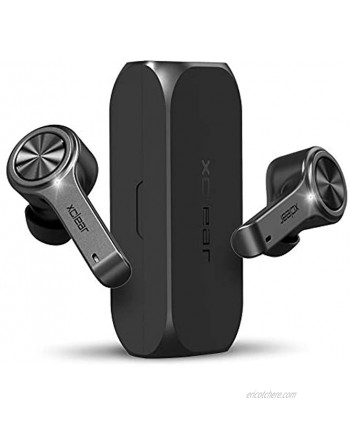 XClear Wireless Earbuds with Immersive Sounds True 5.0 Bluetooth in-Ear Headphones with Charging Case Quick-Pairing Stereo Calls Built-in Microphones IPX5 Sweatproof Pumping Bass for Sports Black