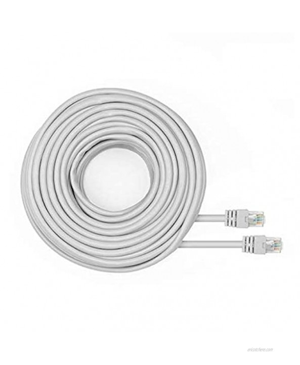 Amcrest Cat5e Cable 60ft Ethernet Cable Internet High Speed Network Cable for POE Security Cameras Smart TV PS4 Xbox One Router Laptop Computer Home CAT5ECABLE60