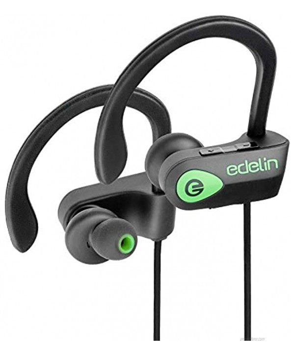 Edelin Bluetooth Headphones Wireless Earbuds with Mic HD Stereo Noise Cancelling Waterproof IPX7 for Sport Running Gym Earphones Compatible iPhone 8 X Samsung Galaxy S9 Android iOS Headset