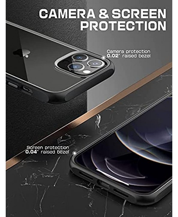 SUPCASE Unicorn Beetle Style Series Case for iPhone 13 Pro Max 2021 Release 6.7 Inch Premium Hybrid Protective Clear Case Black