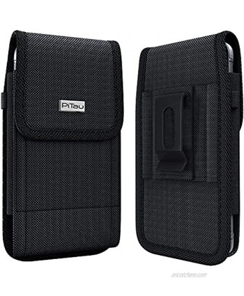 PiTau Belt Holster for Samsung Galaxy S20 Rugged S10 Belt Case with Belt Clip and Loops Tactical Cell Phone Holster Holder Pouch Cover Fits Samsung Galaxy S20  S10  S8  S9 with Other Case on Black