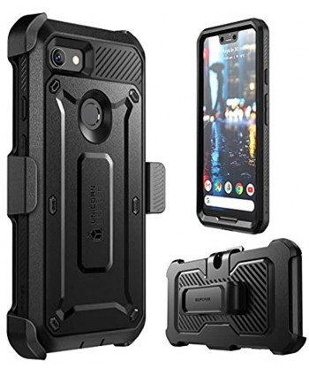 SUPCASE Full-Body Rugged Holster Case for Google Pixel 3 XL with Built-in Screen Protector for Google Pixel 3 XL 2018 Release Unicorn Beetle Pro Series Retail Package Black
