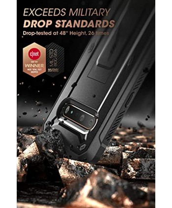 SUPCASE Unicorn Beetle Pro Series Case Designed for LG V60 ThinQ 2020 Release,Full-Body Rugged Holster & Kickstand Case with Built-in Screen Protector Black