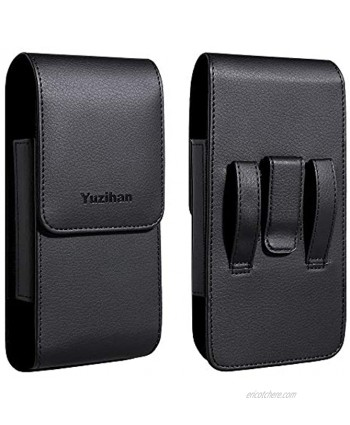 Yuzihan Holster for Big iPhone 12 Pro Max iPhone 11 Pro Max iPhone Xs Max iPhone 8 Plus 7 Plus 6S Plus Belt Holster Fit with Thick Defender Case Hybrid Armor Case Battery Case On