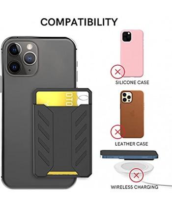 Delidigi Stick on Card Holder for Phone Adhesive Phone Wallet Pocket Slim Credit Card Holder for iPhone Android and Most SmartphonesBlack