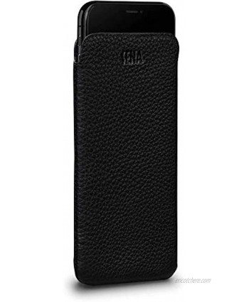 UltraSlim Classic Leather Sleeve Case Compatible with New iPhone SE 2020 iPhone 8 7 Black