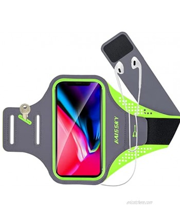 GUZACK Cell Phone Running Armband Phone Holder for iPhone 12 Pro 11 Pro Max 11 XR XS X Galaxy S21 S20 S9 S8 Plus Portability Water Resistant Cell Phone Armband for Jogging Cycling Walking Workout