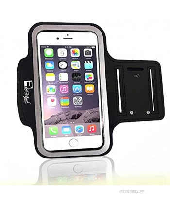 Premium iPhone 7 Plus iPhone 8 Plus Running Armband with Fingerprint ID Access. Sports Phone Arm Case Holder for Jogging Gym Workouts