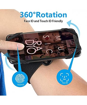 Running Armband Phone Holder 2 In1 Detachable Running Cell Phone Armband for iPhone 11 12 Pro Max Wristband Arm Bands for Cell Phone Samsung