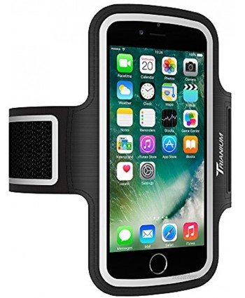 Trianium Armband for Large Phone- iPhone Xs Max XR iPhone X 8 7 6s Plus,LG G7 G6,Galaxy s9 s8 Note 9 8Fit Otterbox Defender Lifeproof case[Water Resistant] ArmTrek Pro Sport Arm Band w Key Holder