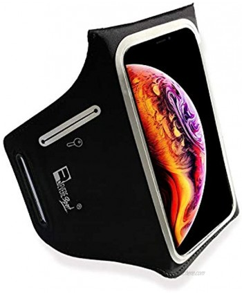 Waterproof Running Armband for iPhone Xs Max. Phone Arm Holder for Runners Gym Workouts