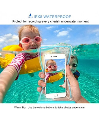 """3 Pack Waterproof Phone Case Universal Phone Bag Pouch Dry Bag for Phone iPhone 12 11 X 8 7 6 Plus Samsung Galaxy s9 S8 S7 up to 6.0"""" Swimming Diving"""