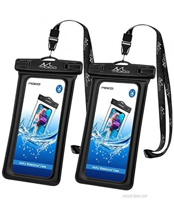 MoKo Floating Waterproof Phone Pouch Holder [2 Pack] Floatable Phone Case Dry Bag with Lanyard Compatible with iPhone 13 13 Pro Max iPhone 12 12 Pro Max 11 Pro X Xr Xs Max 8 Samsung S21 S10 S9 S8