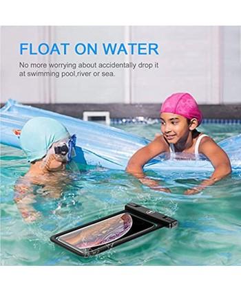 Tiflook Floating Waterproof Phone Pouch with Lanyard Armband Dry Bag Holder Underwater Case for LG Stylo 6 Stylo 5 Stylo 4 K51 V60 V40 G8X G8 G7 ThinQ K51 K31 K40 K92 Velvet Wing Journey LTE Black