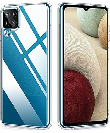 Samsung Galaxy A12 Case Vakoo Samsung A12 Case Clear Slim Thin Silicone Shockproof Protective Phone Case for Samsung Galaxy A12 6.5 Inch Transparent