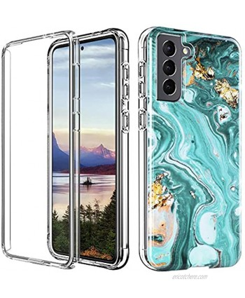 """SOGCASE Fit for Samsung Galaxy S21 5G Case 6.2"""" Dual Layer Shockproof Protective Slim Anti-Yellow TPU Cover Ultra Soft Clear Bumper Unique Design Stylish Marble Phantom Pattern"""