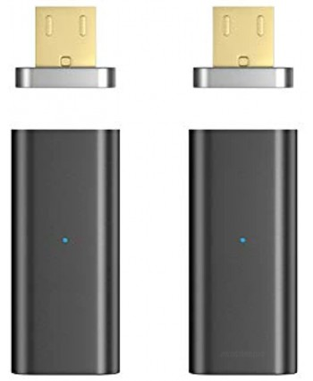 NetDot 2 Pack Gen5 Micro USB to Magnetic Micro USB Adapter Compatible with Android Devie Micro USB Adapter 2 Pack Black