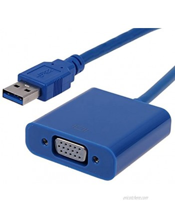 Cablecc Super Speed USB 3.0 to VGA Video Graphic Card Display External Cable Adapter for Windows 7 WIN8