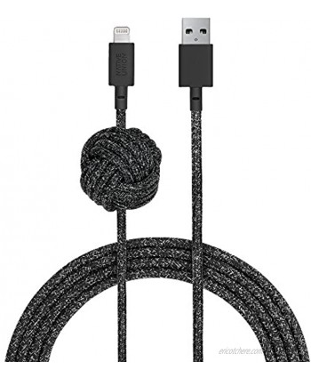 Native Union Night Cable 10ft Ultra-Strong Reinforced [MFi Certified] Durable Lightning to USB Charging Cable with Weighted Knot Compatible with iPhone iPad Cosmos