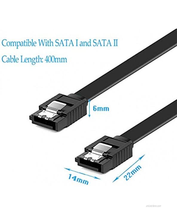 DaFuRui 12-Pack Straight Black SATA III 6.0 Gbps SATA Cable 16 Inches