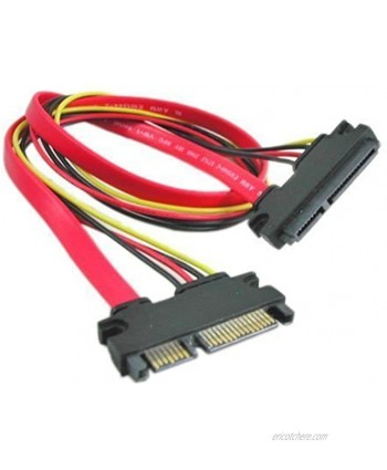 SMAKN 22-pin 7+15 Sata Male to Female Data and Power Combo Extension Cable Slimline Sata Extension Cable M f 1m